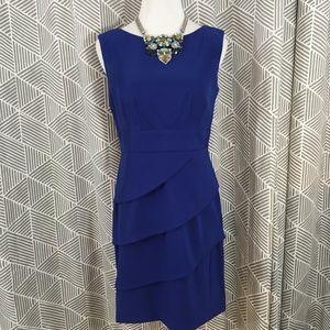 Connected Petite Sz 4 Blue Dress